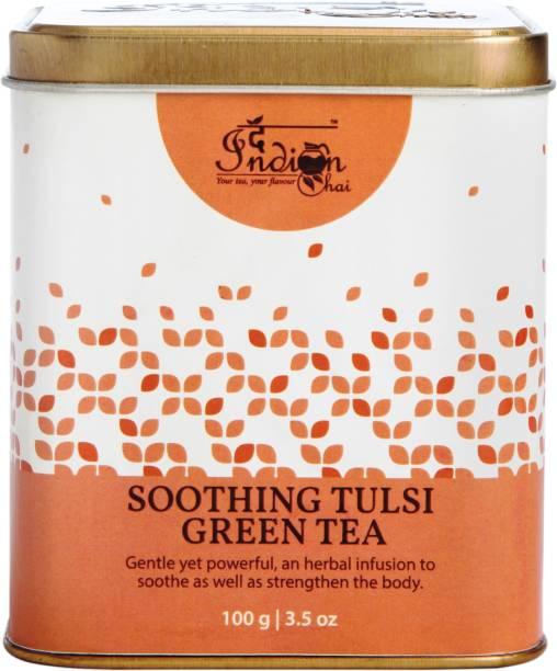 The Indian Chai Soothing Tulsi Green Tea Tulsi, Liquorice Green Tea Vacuum Pack