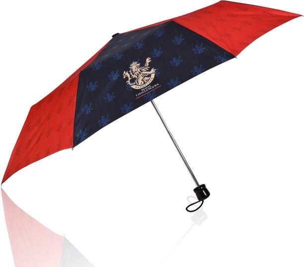 EUME Official RCB 3 Fold Hand Open Small Umbrella