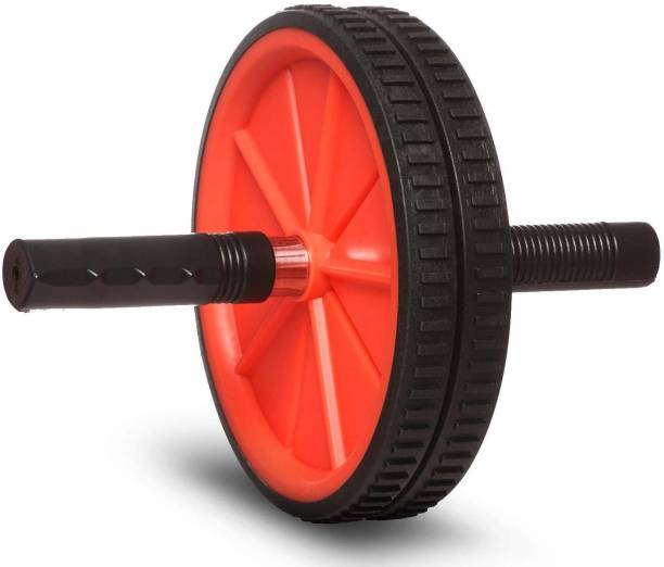 Fitness India Ab Roller Wheel (2 Wheels) with Knee Pad Core Strength Ab Exerciser