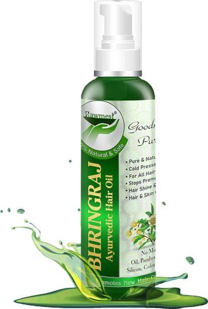 Rawmest Pure Organic Ayurvedic Maha Bhringraj Hair oil Boosts Hair Growth 100 ml
