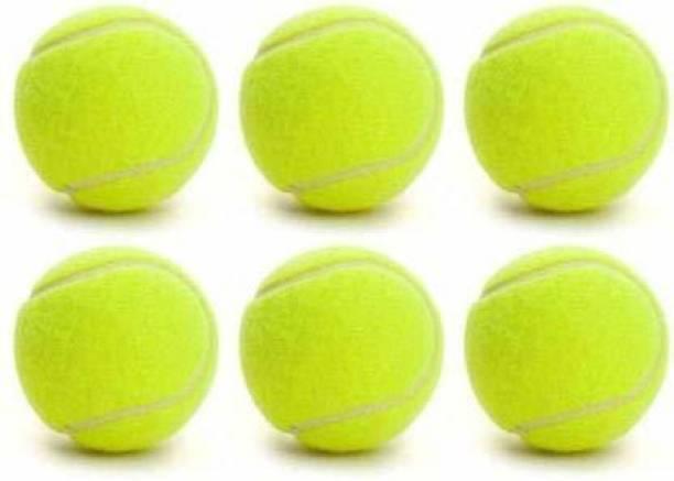 Sport Anticq Rubber Light Weight Tennis Ball - Green, Pack of 6 Tennis Ball