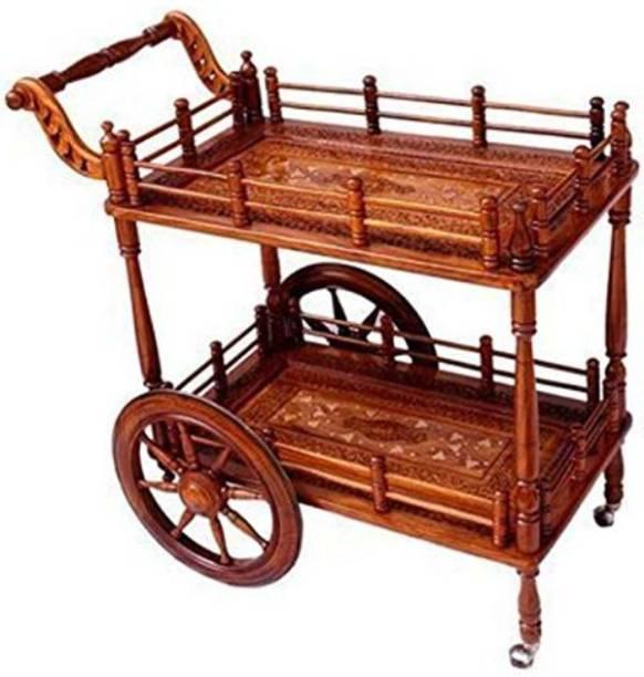 Craftatoz Solid Wood Bar Trolley