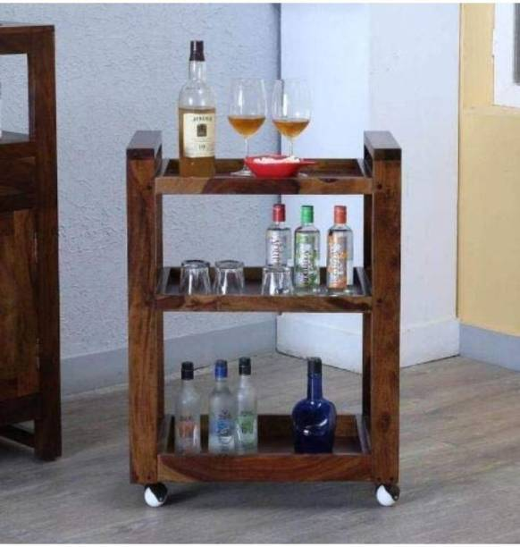 Allie Wood Solid Wood Bar Trolley