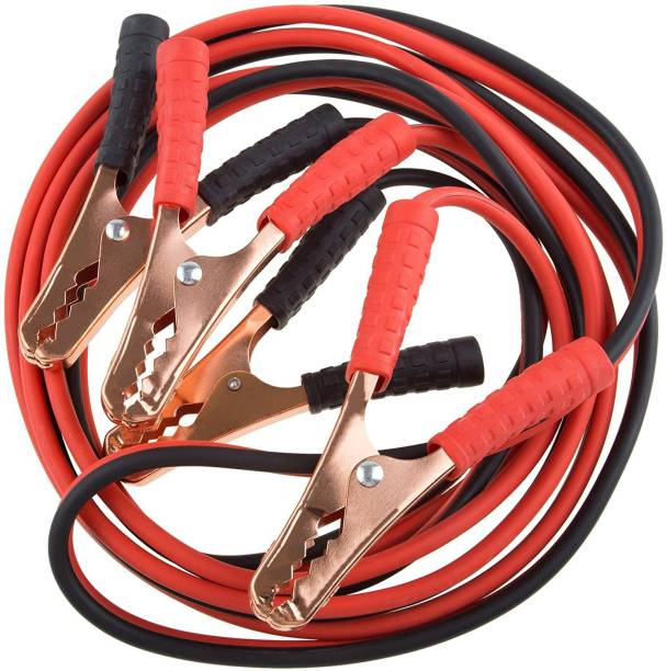 carfrill Car Jumper Lead Heavy Duty Polycab Pure Copper Wire Used for Jumper Cable Long Alligator Clamp Start Dead Battery Emergency Battery Cable 10 ft Battery Jumper Cable