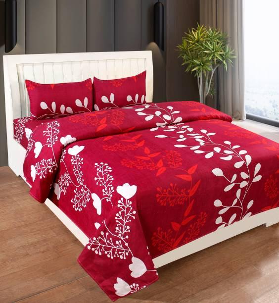 Decorum 160 TC Polycotton Double Floral Bedsheet