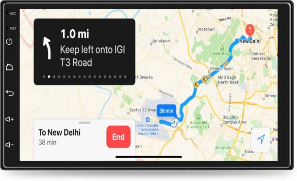 """godryft 9"""" Inch 1GB RAM 16GB ROM Android Car Dashboard Entertainment Screen Set Supports Wi-fi, Bluetooth, Hi-Fi Audio with Super Bass, 1.3 GHz Processor, GPS, Screen Mirror/Cast, Equalizer Car Stereo"""