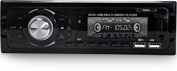 Bluefox Audio Systems 50X4 Multimedia Car Stereo - Single Din LCD Bluetooth Audio and Hands-Free Calling, Built-in Microphone, Double USB, Aux-in, AM/FM Radio Receiver Car Stereo