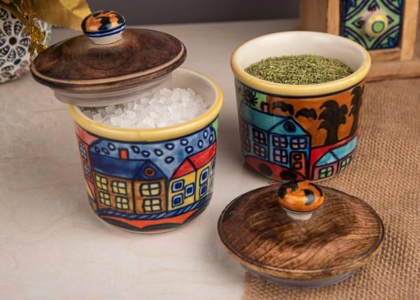 Hindustani Saudagar  - 300 ml Ceramic Grocery Container