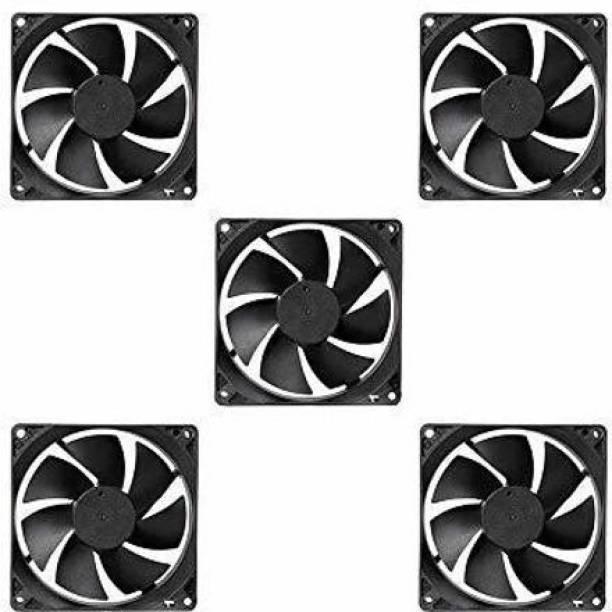 ERH India (Pack of 5) India DC 12V Cooling Fan for PC Case,DC 12V DC Cooling Fan,3 Inches CPU Cooler Radiator Fan Cooler