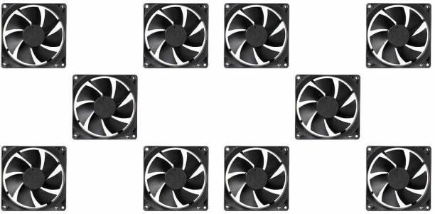 ERH India (Pack of 10) India DC 12V Cooling Fan for PC Case,DC 12V DC Cooling Fan,3 Inches CPU Cooler Radiator Fan Cooler