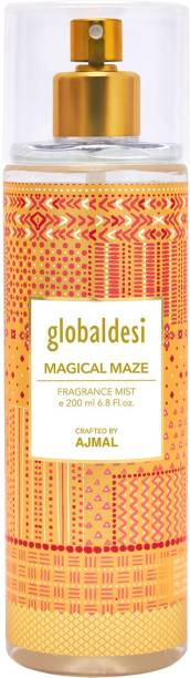Global desi Magical Maze Body Mist Crafted By Ajmal + 2 Parfum Testers Body Mist  -  For Women