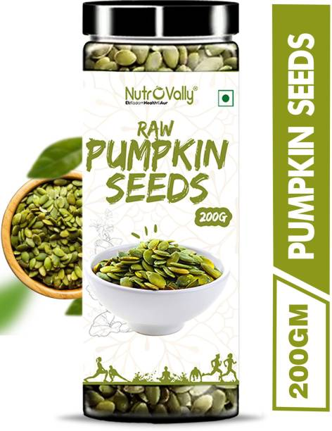 NutroVally Raw Pumpkin Seeds Loaded with Protein and Fibre Rich Superfood for Boost Immunity seed for Eating