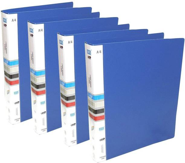 Msquare Supplies Plastic 2D Ring Binder File, A4