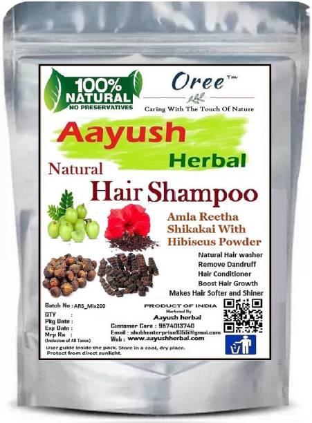 Aayush herbal Hair Shampoo 100% Natural amla/reetha/shikakai with Hibiscus powder for hair Growth 200g