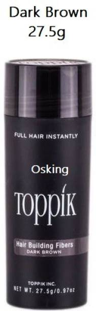 Osking Toppik Hair Volumizer Dark Brown-27.5 grams,Hair Building Styling Fibers, (27.5 grams) 1546125 Soft Hair Volumizer Powder