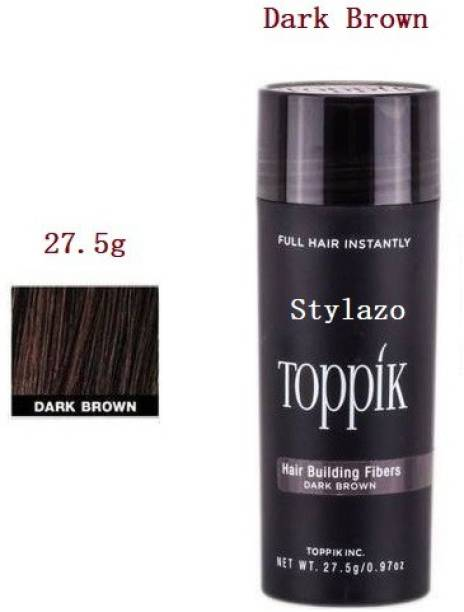 Stylazo Toppik Hair Loss concealer Hair Building Styling Fibers Dark Brown (27.5 g), Hair Volumizer, (27.5 grams) 5151155 Soft Hair Volumizer Powder