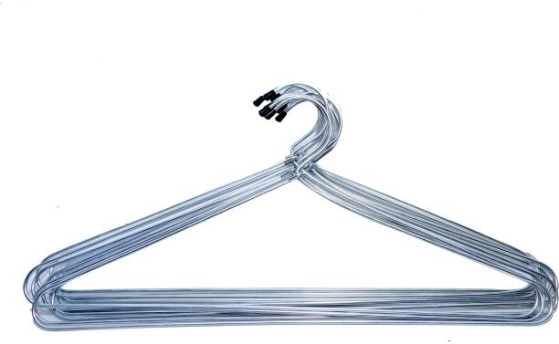 MOSTLY Thick Wire Gloss Finish Hangers Steel Pack of 12 Hangers