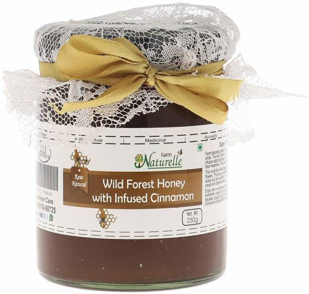Farm Naturelle Cinnamon Infused Natural Wild Forest Honey-250 Grams