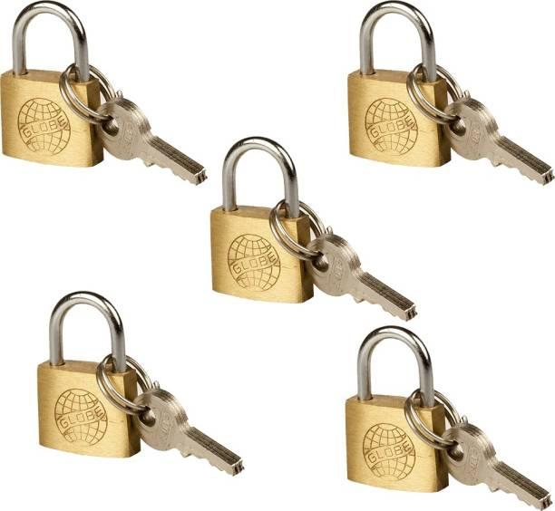 Fusine Brass Padlock with 3 Keys Sutable for Luggage Bag's (20MM) Padlock
