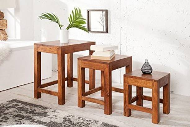 BM Wood Furniture Solid Wood Nesting Table