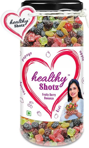 HEALTHY SHOTZ Fruity Berry Bonanza | (150g Each) GLASS BOTTEL | Healthy and Nutritious Snacks Munch Any Time Crunch