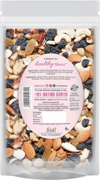 HEALTHY SHOTZ Medley Nutties | (120g Each) SMALL STANDY (REFILL) | Healthy and Nutritious Snacks Munch Any Time Crunch