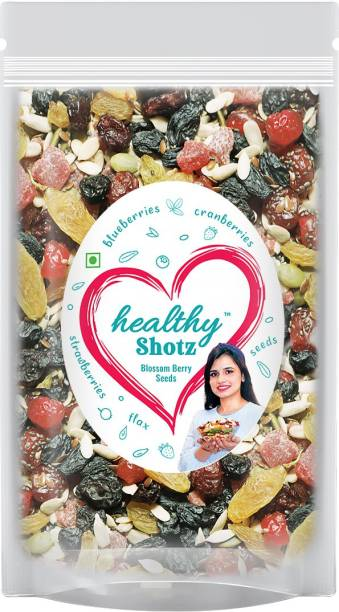 HEALTHY SHOTZ Blossom Berry Seeds Dry Fruits | (250g Each) LARGE STANDY (REFILL) | Healthy and Nutritious Snacks Munch Any Time Crunch