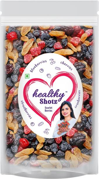HEALTHY SHOTZ Scarlet Berries | (140g Each) SMALL STANDY (REFILL) | Healthy and Nutritious Snacks Munch Any Time Crunch