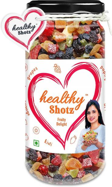 HEALTHY SHOTZ Fruity Delight | (140g Each) GLASS BOTTEL | Healthy and Nutritious Snacks Munch Any Time Crunch