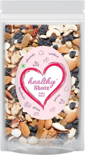 HEALTHY SHOTZ Medley Nutties | (250g Each) LARGE STANDY (REFILL) | Healthy and Nutritious Snacks Munch Any Time Crunch
