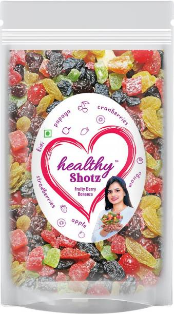 HEALTHY SHOTZ Fruity Berry Bonanza | (250g Each) LARGE STANDY (REFILL) | Healthy and Nutritious Snacks Munch Any Time Crunch