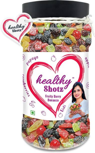 HEALTHY SHOTZ Fruity Berry Bonanza | (250g Each) PET BOTTEL | Healthy and Nutritious Snacks Munch Any Time Crunch