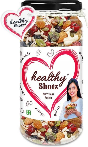 HEALTHY SHOTZ Nutritious Fusion | (140g Each) GLASS BOTTEL | Healthy and Nutritious Snacks Munch Any Time Crunch