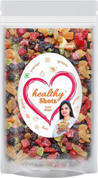 HEALTHY SHOTZ Fruity Delight | (250g Each) LARGE STANDY (REFILL) | Healthy and Nutritious Snacks Munch Any Time Crunch