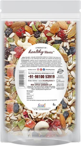 HEALTHY SHOTZ Nutritious Fusion | (140g Each) SMALL STANDY (REFILL) | Healthy and Nutritious Snacks Munch Any Time Crunch