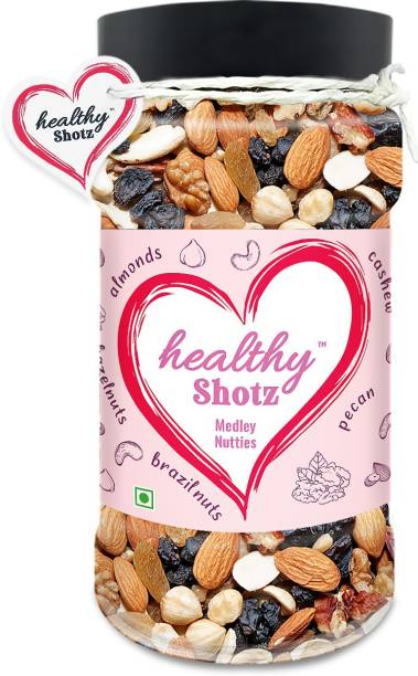HEALTHY SHOTZ Medley Nutties | (220g Each) PET BOTTEL | Healthy and Nutritious Snacks Munch Any Time Crunch