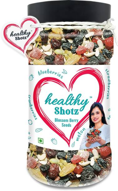 HEALTHY SHOTZ Blossom Berry Seeds Dry Fruits | (250g Each) PET BOTTEL | Healthy and Nutritious Snacks Munch Any Time Crunch
