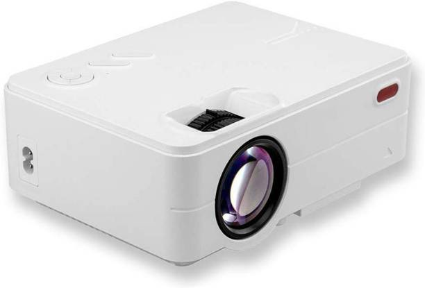 Torexo Sales Latest TS82 FullHD 1080P High Definition LED Projector, WiFi, AV/TV, USB, SD, VGA, HDMI, Miracast, Inbuilt YouTube, Home Cinema Portable Projector