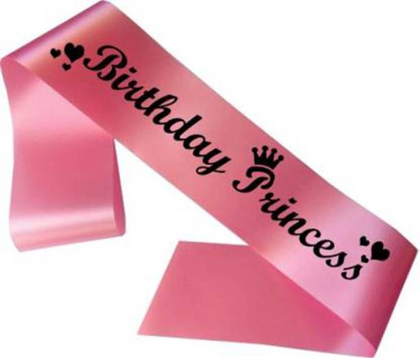 NANDANA COLLECTIONS Birthday Princess Sash For Birthday Party