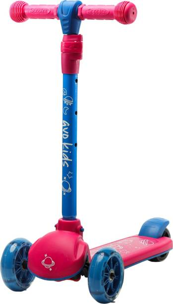 Avo Kids ScootX - Kick Scooter for Kids - Adjustable Height w/Extra-Wide Deck with Durable PU Flashing Wheels Great Kids Scooter & Toddler Scooter 3-12 Years Old Kids Scooter