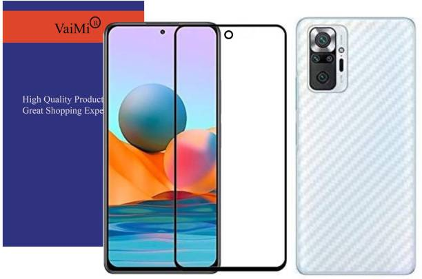 VaiMi Front and Back Tempered Glass for Redmi Note 10 Pro , Redmi Note 10 Pro Max