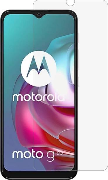 FlipSmartGuard Tempered Glass Guard for Motorola Moto G30 (Matte)