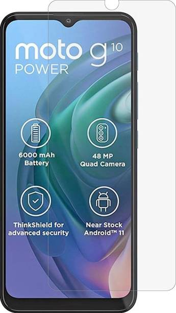 BRIGHTRON Tempered Glass Guard for Motorola Moto G10 Power Matte Tempered Glass Full Screen Coverage Except Edges (Tempared Glass/Screen Protector) (NOT A TEMPARED GLASS)
