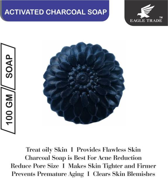 EAGLE TRADE Activated Charcoal Natural Hand Made Soap (Pack Of 1)