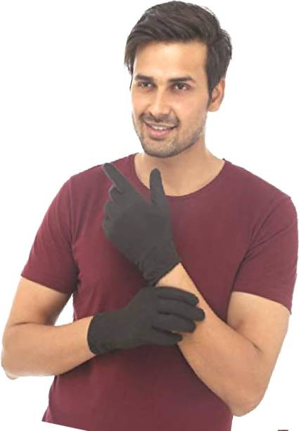 Nicsy Men & Women Cotton Hand Half Gloves for Sun Protection from Pollution Driving Gloves
