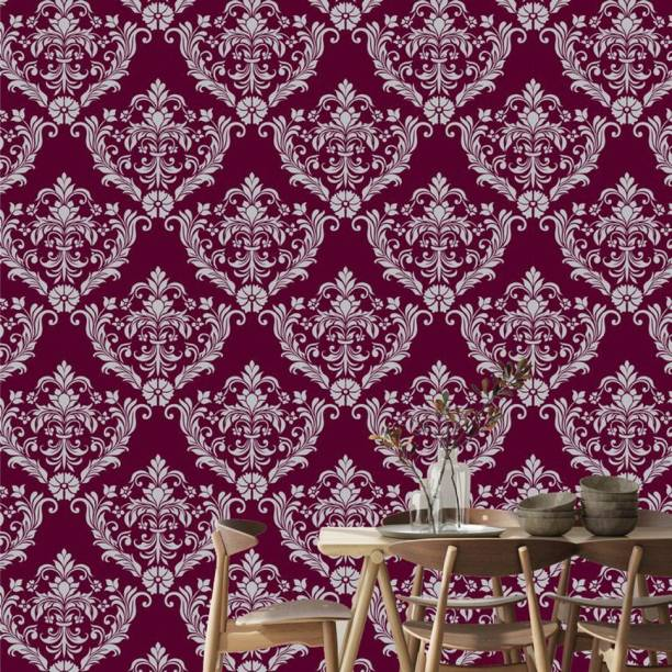 ASIAN PAINTS Large EzyCR8 P&S Ornate Delight of Damascus - Maroon Sticker