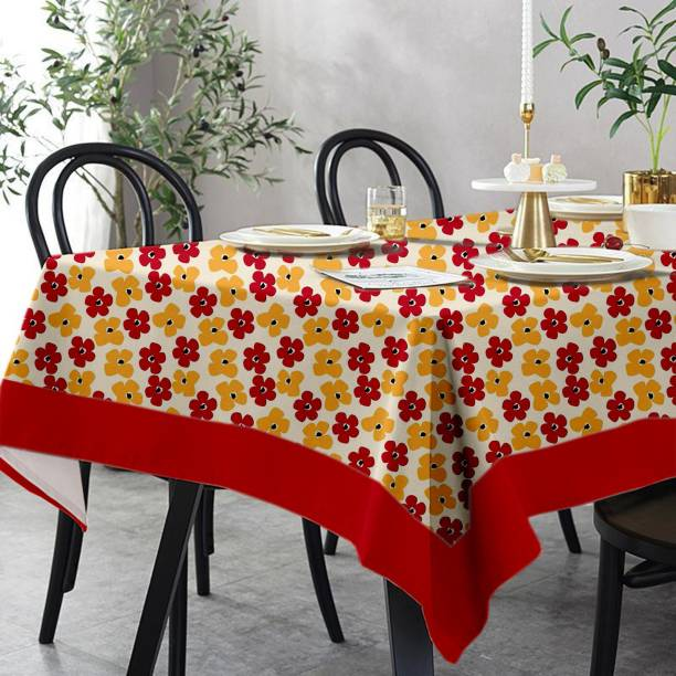 Lushomes Printed 6 Seater Table Cover