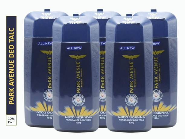 PARK AVENUE Five GOOD MORNING FRAGRANCE DEO TALC (Pack Of 5)