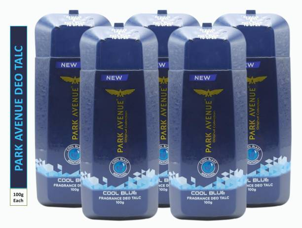 PARK AVENUE Five COOL BLUE FRAGRANCE DEO TALC (Pack Of 5)