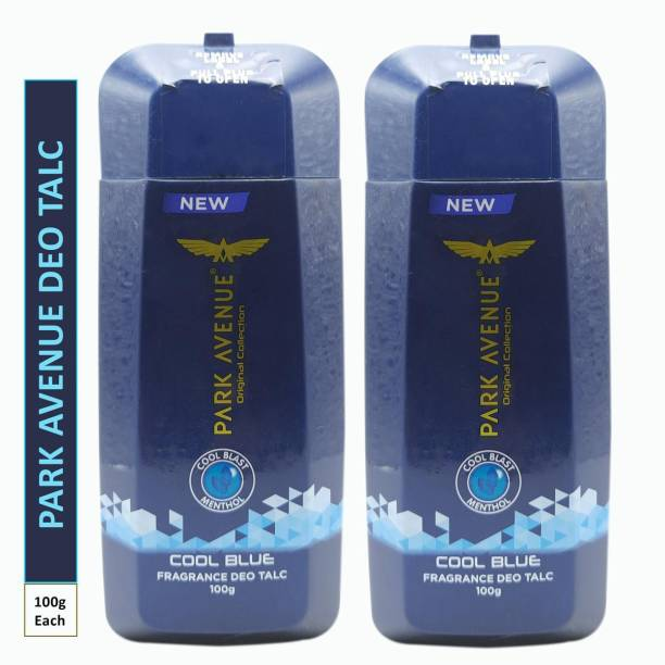 PARK AVENUE Two COOL BLUE FRAGRANCE DEO TALC (Pack Of 2)